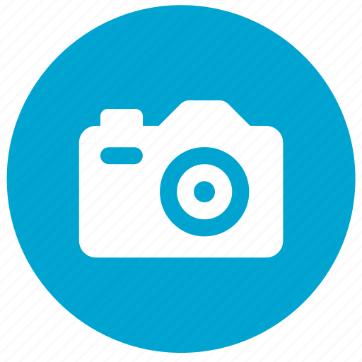 camera, image, photo, photography, picture, pictures, round icon