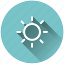 brightness, shine, sunny, weather icon