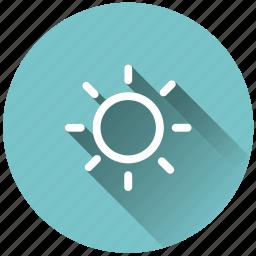 brightness, shine, sunny, weather icon