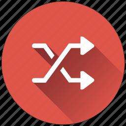 arrows, crossing, random, shuffle icon