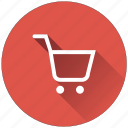 trolley, cart, luggage, shopping