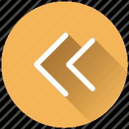 arrow, back, left, previous, rewind icon