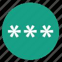 access, code, pass, password, pin icon