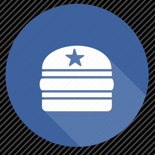 badge, burger, hamburger, social, star icon