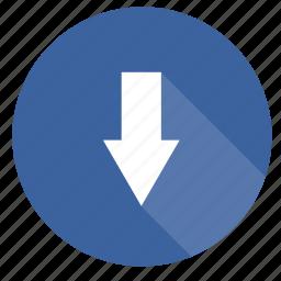 arrow, arrows, down, move, next icon