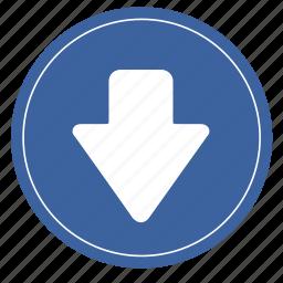 arrow, creative, down2, move, shape icon
