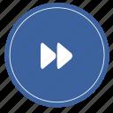 forward, audio, media, music, player, sound