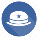 badge, cap, hat, hoed, star icon
