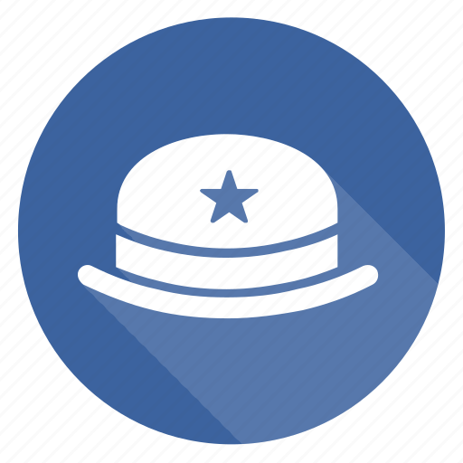 badge, cap, hat, hoed, star icon