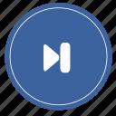 music, next, media, audio, right icon