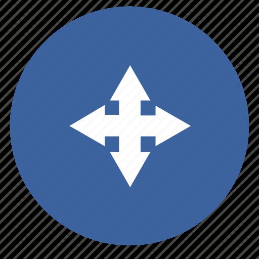 arrow, arrows, circle, forward, next, pijlen icon
