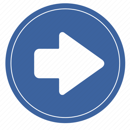 arrow, circle, move, right, right2, shape icon