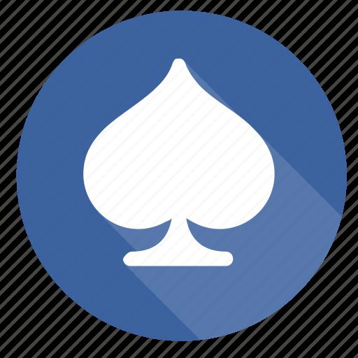 cards, gambling, hazard, schoppen, spades icon
