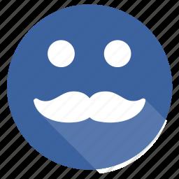 guy, men, moustache, smile, snormen icon