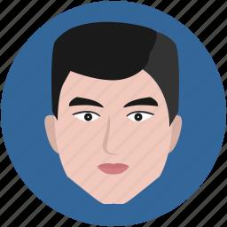 avatar, face, fashion, man, round icon
