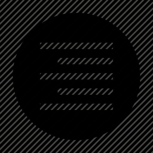 align, align right, font, paragraph, right icon