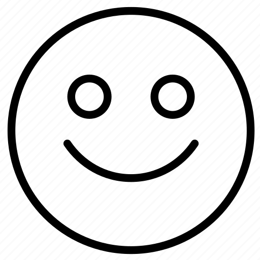 emoji, expression, face, happy, outline icon