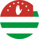abkhazia, flag, georgia icon
