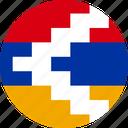 artsakh, azerbaijan, flag, karabakh, nagorno icon