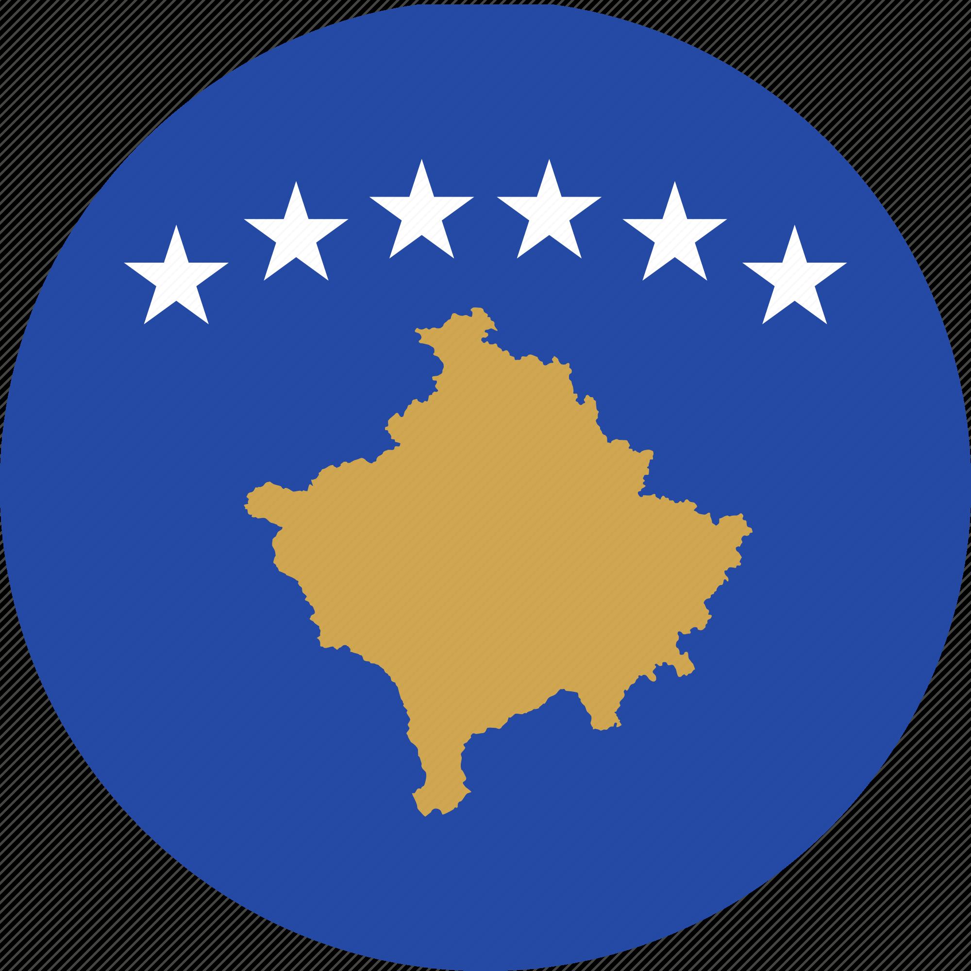flag, kosovo, serbia icon