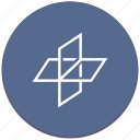 axis, flatness, geometry icon