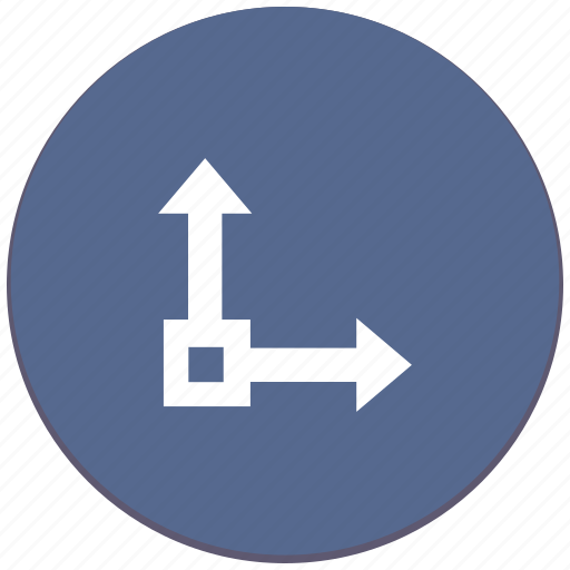 axis, chart, coordinates, scale icon