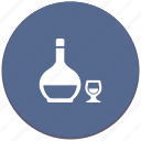 alcohol, bocal, bottle, cognac, drink icon
