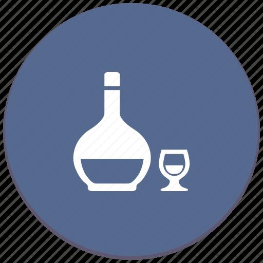alcohol, bocal, bottle, cognac, drink icon
