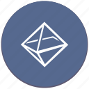 complex, figure, geometry, octahedron icon