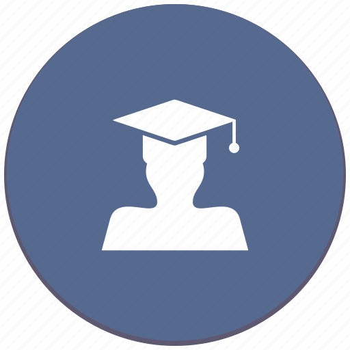 education, hat, level, magister, phd, professor icon