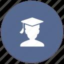 hat, man, phd, professor, student