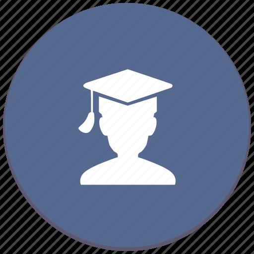 hat, man, phd, professor, student icon