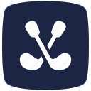 blue, deep, golf, pointer icon
