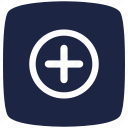 blue, deep, hospital, pointer icon