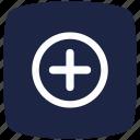 blue, deep, hospital, pointer icon