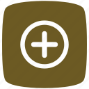 gold, hospital, pointer icon