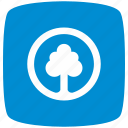 blue, park, pointer icon
