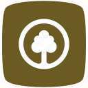 gold, park, pointer icon