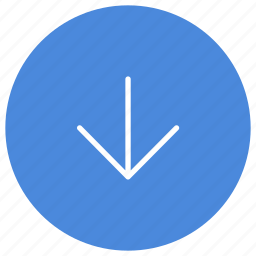 arrow, direction, down, gps, location, navigation icon