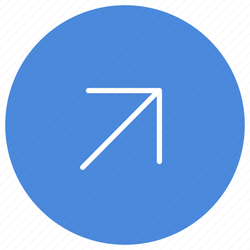 arrow, direction, gps, location, navigation, right, up icon