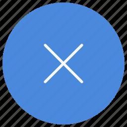 cancel, close, cross, delete, error, remove, trash icon