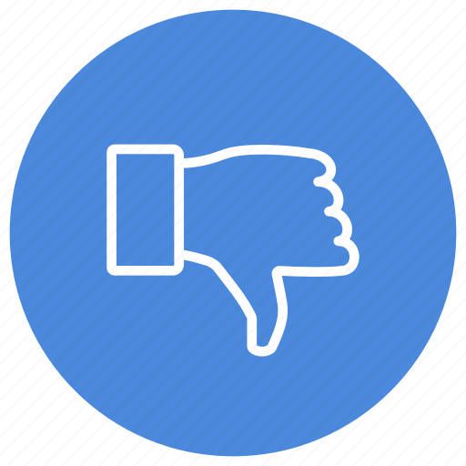 Dislike, down, thumb, hand, no, unsatisfied icon - Download on Iconfinder