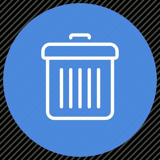 bin, delete, empty, garbage, recycle, remove, trash icon