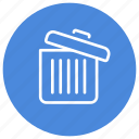 bin, delete, full, garbage, recycle, remove, trash icon