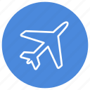 airplane, flight, plane, plane mode, transport, transportation, travel icon