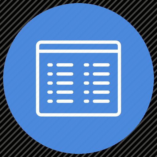 configuration, custom, interface, list, mode, view icon