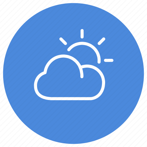climate, cloudy, forecast, sunny, weather icon
