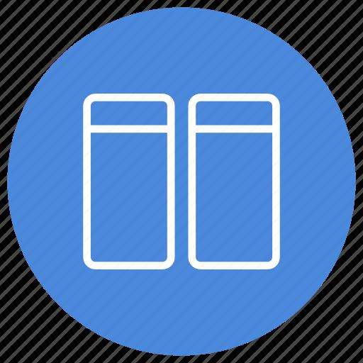 arrange, columns, configuration, custom, horizontal, two, window icon