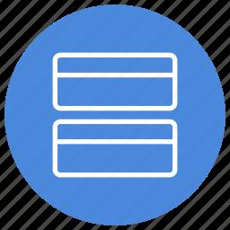 arrange, configuration, custom, rows, two, vertical, window icon