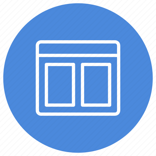 columns, configuration, custom, horizontal, interface, two, window icon